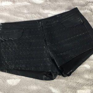 Blank NYCblack FAUX leather Shorty shorts size 26